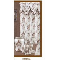 Crystal Polyester Chocolate Shower Curtain 72 x 72 Inch Environmental Protection Manufactures