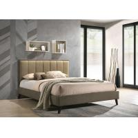 China Gold Hotel Platform Bed / Double Platform Bed With Drawer Linen Fabric on sale