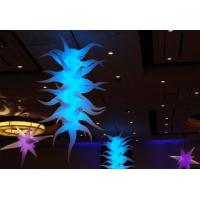China Inflatable Led Advertising Displays 11ft Tall Celling Led Lighting Agave Plant Organic Shape on sale
