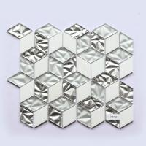 Glass Mosaic Subway Tile 300X300 Glossy Glass Hexagon Porcelain Mosaic Tile Manufactures