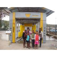 Effective Tunnel Car Washing Machine Yellow Brushed With Low Noise Manufactures