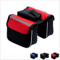 China bicycle bag double bicycle bag cycling bicycle frame pannier bike front tube bag on sale