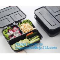 China Disposable Plastic food delivery box Printing Sushi Tray For Food Packaging,HIPS Material Disposable Black Plastic Food on sale
