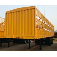 12 Wheels 40 Tons Livestock Semi Trailers Triple Axle High Tensile Carbon Steel Manufactures