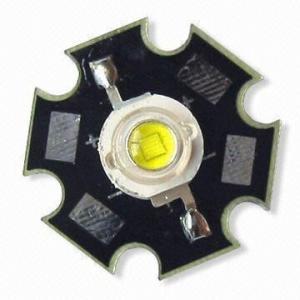 China 6500K Nature White 1W high power LED With Cooling Heatsink / 1W Nature White Led on sale