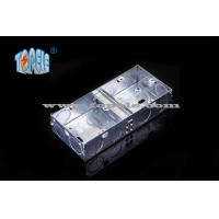 BS4662 GI Switch One Gang / Two Gang Electrical Boxes And Covers, GI Conduit Boxes Manufactures