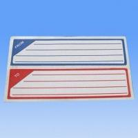 Stickers, Self Adhesive, with 70gsm Wood Free Paper, Used in Labs and Homes Manufactures
