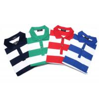 Fashionable Style Casual Work Uniforms , Classic Mens Polo Shirts With Yarn Dyed Stripe Manufactures
