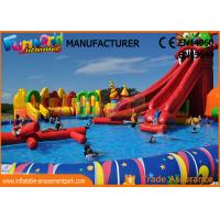 Buy cheap 0.9mm PVC Tarpaulin Inflatable Commercial Water Park With Slide from wholesalers