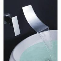 Wall-mount bathroom sink waterfall faucet, chrome, single lever, hole, cold and hot function  Manufactures