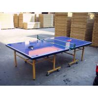 China Indoor Outdoor Table Tennis Table , Blue Folding Ping Pong Table For Competition on sale