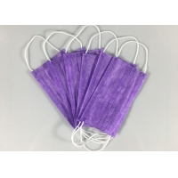 Nonwoven Purple Civil Triple Layer Earloop Face Mask Manufactures