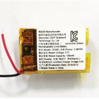 KC CB approved 3.7V Li-ion Battery 130mah rechargeable Lithium Polymer Battery Lipo IEC62133 WERCS certificattion Manufactures