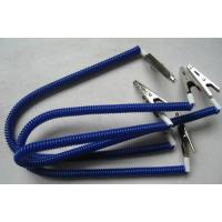 China Napkin coiled holder dental lab bib clips flexible plastic spring coil chain blue leashes on sale
