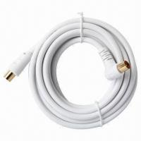TV Coaxial Cable, Comes in White, 26AWG Wire Manufactures