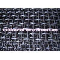 Crimped Carbon Steel Wire Mesh Square Aperture And Round Wire In Sheet High Tensile Manufactures