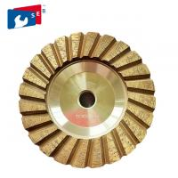 4 inch Cyclone Shape Diamond Cup Wheel with Wet Grinding for Concrete Floor Manufactures
