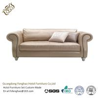 Modern Cream PU Leather Couch Corner Sofa Set / Leather Sectional Sofa Manufactures