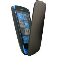 China Vintage black PU leather folio case skin cover for Nokia phone 610, great value phone case on sale