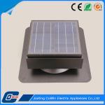 12 Volt Solar Panel Roof Vent Fan , Battery Power Solar Roof Exhaust Fan Manufactures