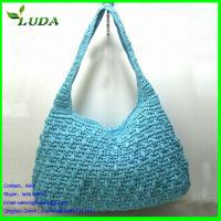Nautical Oval Lady Paper String handbag w/ rope handles Manufactures