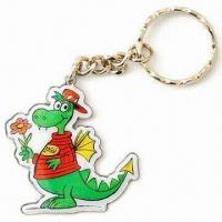 Firedrake Printed Keychains with Standard Chains and Split Ring, Made of Steel and Iron Manufactures
