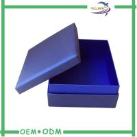 Handmade Dark Blue Custom Jewelry Gift Boxes Personalized Popular Manufactures