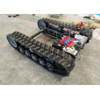 China Black Rubber Track Undercarriage Chasiss 1-10T For Construction Equipment Spare Parts on sale