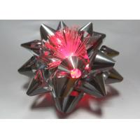 China 10CM Dia Metallic LED Ribbon Bow for gift decorations , Pink Blue Silver Star Bow on sale