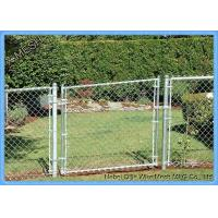 PVC Coated Security Chain Link Fence Mesh Fabric 8 Gauge 60 X 60mm Size Manufactures