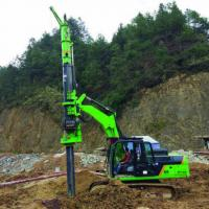 China Mini mobile rotary drilling TYSIM KR50 depth 24m drilling machine with 21ton excavator on sale