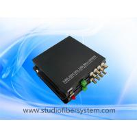 aluminum case 4CH 720P 1080P HDTVI video fiber converter with RS485 for PTZ control,20KM,FC/SC/LC/ST selectable,no delay Manufactures