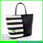 LUDA black striped beach handbag new paper straw handbags uk Manufactures