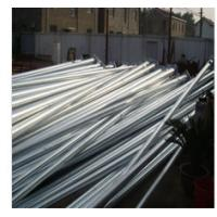 Single Or Double Arm Street Light Poles With Conical Round Tapered Manufactures