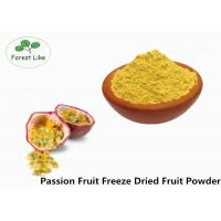 Food Grade Freeze Dried Passion Fruit Powder No Additive Yellow Powder Manufactures