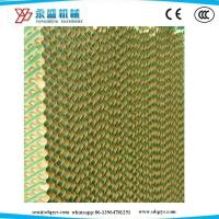 China Cellulose Cooling Pad Paper for Poultry Farm/Agriculture Greenhouse Brown and Green Color on sale