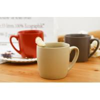 Classical Ceramic Mugs Round Red Chinese Coffee Eco Friendly Microwave Manufactures