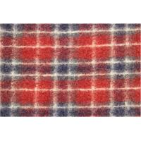 Rustic Chelsea Tartan Plaid Red Jacquard Fabric By the Yard Flame Red / Grey Manufactures
