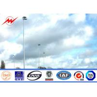 30M 8 Lamps Outdoor  High Mast Pole for Airport Lighting with Lifting System Manufactures