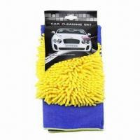 Car cleaning set, includes 50 x 70cm microfiber cleaning cloth and double side gloves Manufactures