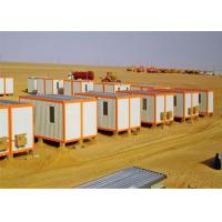 China Decorated Sandwich Panel Flat Pack Conex Box Homes with Bathroom on sale