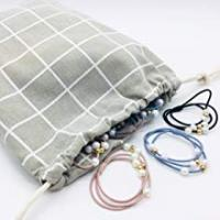 jewelry cotton linen storage pouch