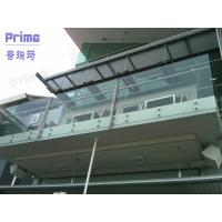 Indoor glass balustrade frameless design Manufactures
