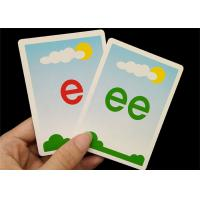 Custom Size Educational English Flashcards for Kids EN71 / CE / REACH  SGS Approval Manufactures