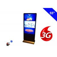 Floor Standing Wireless Network 3G Digital Signage Indoor Display LCD 55 Inch Manufactures