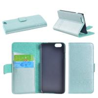 Sewing Process Green Apple Iphone 6 Leather Wallet Case With Card Slots Manufactures