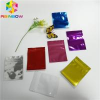 Quality Colorful Plastic Pouches Packaging Heat Seal Aluminum Foil Bags Smell Proof for sale
