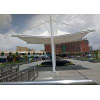 PVDF Sail Fabric Shade Structures Light Steel Tube Support Tension Buildings Manufactures