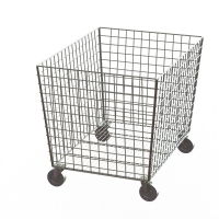 Metal Bin Chrome Color Welded Hotel Display Stand Cart Type Manufactures