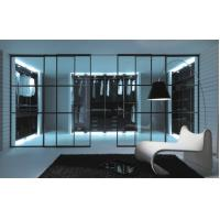Aluminum Partition Sliding Door With Decorative Glass, Interior Modern Metal Room Divider Manufactures
